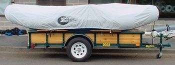 #1200 - Inflated Raft Storage/Travel Cover/14'-15' w/Tie-Down | Raft Storage and Travel Covers