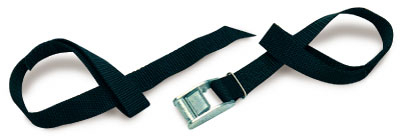 802 - Cam buckle, 1 in. Polypro Loop Strap 2 ft., black | 1 Inch PolyPro Cam Loop Strap & Buckle
