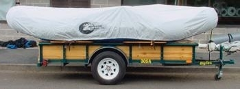 #1204 - Inflated Raft Storage/Travel Cover/17'-19'/ w/Tie-Down | Raft Storage and Travel Covers